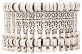Natalie B Basilica Bracelet in Metallic Silver.