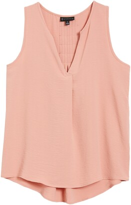 Bobeau Rudy Pleat Back Sleeveless Top