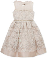 Rare Editions Taupe & Ivory Lace Dress, Toddler & Little Girls (2T-6X)