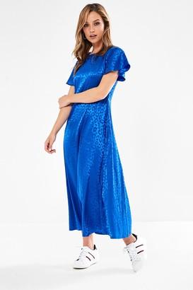 Iclothing Blake Animal Print Midi Dress in Royal Blue
