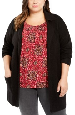 Style&Co. Style & Co Plus Size Open-Front Cardigan, Created For Macy's