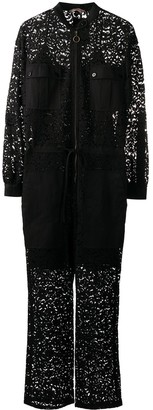 Twin-Set Embroidered Lace Jumpsuit