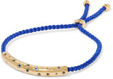 Monica Vinader Esencia cord and rose gold-tone friendship bracelet