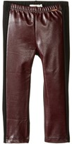 Junior Gaultier Black Faux Leather Leggings Girl's Casual Pants
