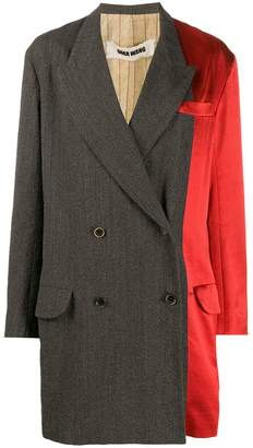 UMA WANG two-tone coat