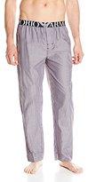 Emporio Armani Men's 100% Cotton Pajama Pants with Logo Waistband
