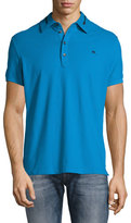 Diesel Zip-Collar Polo Shirt, Blue