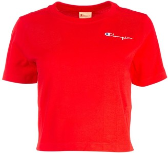Champion Script Logo Cropped T-Shirt
