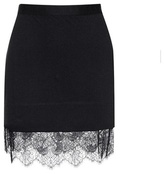 Carven Lace-trimmed jersey miniskirt