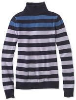 L.L. Bean Signature Merino Turtleneck Sweater, Stripe