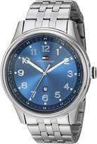 Tommy Hilfiger Men's Classic Stainless Steel Case Dial Watch 1710308