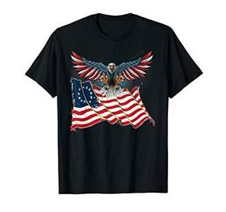 American Eagle Betsy Ross Tshirt USA Gift T-Shirt