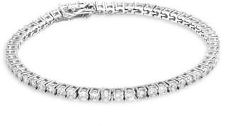 Fallon Grace Silvertone & Cubic Zirconia Tennis Bracelet