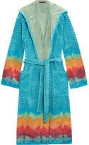 Missoni Home Tamara Cotton-terry Robe - Blue