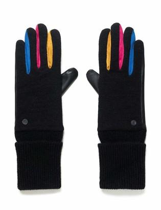 Black Desigual Womens Fun Cold Weather Gloves U