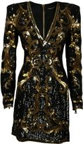 Balmain Baroque Pattern Dress