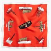 "J.Crew Destination Italian silk scarf in ""London"" print"