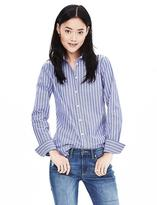 Banana Republic Riley-Fit Blue Stripe Shirt