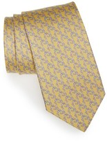 Salvatore Ferragamo Men's Monkey Print Silk Tie