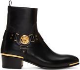 Versace Black Medusa Harness Boots