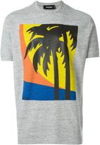 DSQUARED2 palm tree print T-shirt - men - Cotton - L