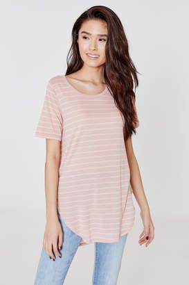 Ardene Basic Striped Tunic T-shirt - Clothing |