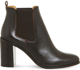 Office Logo leather Chelsea boots