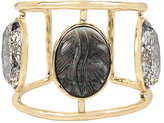 Betsey Johnson Skeletons After Dark Cameo Hinge Cuff