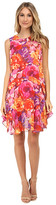 Donna Morgan Sleeveless Chiffon Floral Print Shift