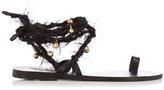 Ancient Greek Sandals Clotho embellished leather sandals