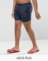 French Connection PLUS Swim Shorts with Contrast Draw String and Inner