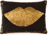 Jonathan Adler Black Lips Pillow