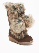 Old Navy Faux-Fur Pom-Pom Boots for Toddler