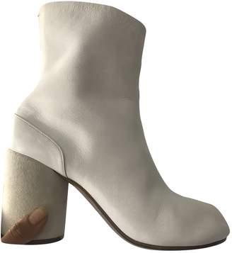 Maison Margiela Tabi White Leather Heels