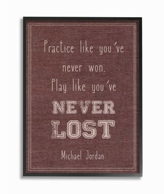 The Kids Room by Stupell Play Like You Never Lost Michael Jordan Quote Stretched Canvas Wall Art, 16 x 1.5 x 20