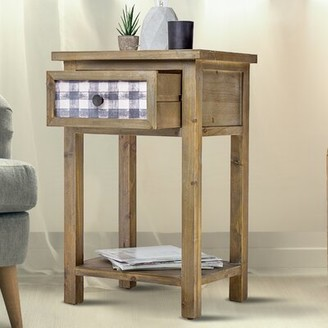 August Groveâ® DAcor Furniture Rustic Wooden Bedside End Table August GroveA
