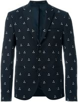 Neil Barrett triangle jacquard blazer - men - Cotton/Polyamide/Polyester/Viscose - 50