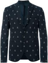 Neil Barrett triangle jacquard blazer