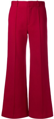See by Chloe flared high-waisted trousers