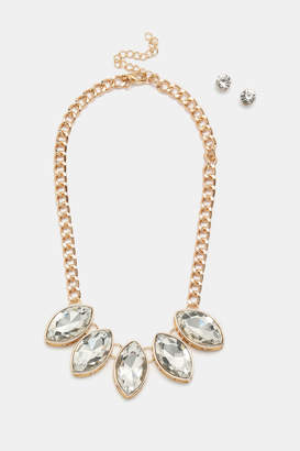 Ardene Statement Necklace and Earring Set