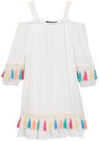 Trixxi 3/4 Length Sleeve Tasseled Cold-Shoulder Dress (Big Girls)