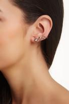 Elizabeth and James Created White Sapphire Truitt Ear Cuffs