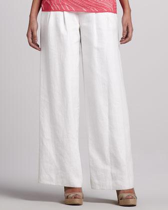 Lafayette 148 New York Ludlow Linen Pants