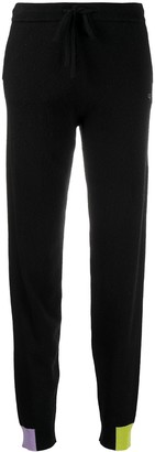 Chinti and Parker Contrasting Panel Knitted Track Pants