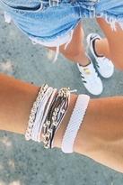 Pura Vida Platinum Bead Bracelet in Black/White