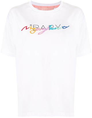 Bapy By *A Bathing Ape® short sleeve embroidered logo T-shirt