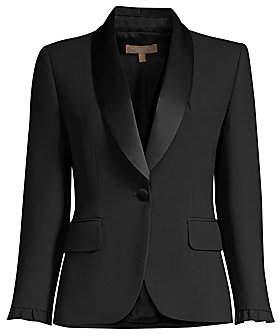 Michael Kors Women's Ruffle Jacket