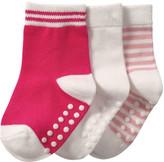 Joe Fresh Baby Girls' 3 Pack Crew Socks, Pink (Size 0-12)