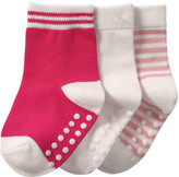 Joe Fresh Baby Girls' 3 Pack Crew Socks, White (Size 12-24)