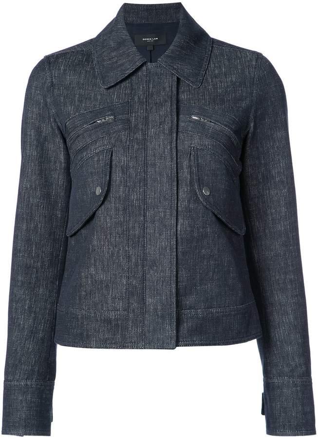 Derek Lam Cropped Jacket With Zipper Detail